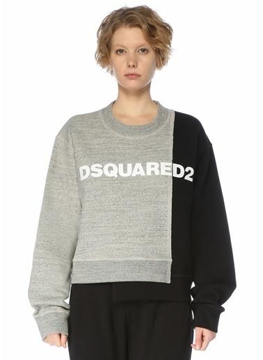 Dsquared2 Dsquared2 Bi Chrome   Bisiklet Yaka Sweatshirt 101630301 Siyah